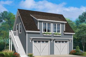 Dream House Plan - Country Exterior - Front Elevation Plan #22-602