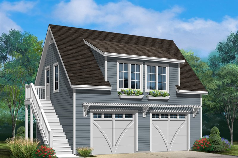House Plan Design - Country Exterior - Front Elevation Plan #22-602