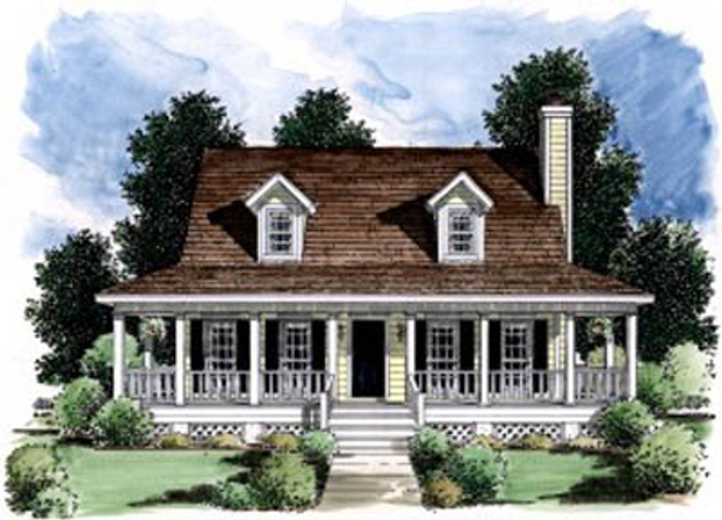 Country style house plan 3 beds 2 5 baths 1618 sq ft for Country style floor plans