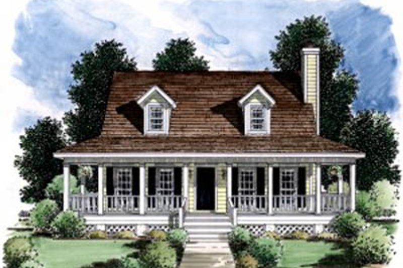 Architectural House Design - Country Exterior - Front Elevation Plan #37-141