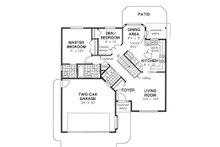 Ranch Floor Plan - Main Floor Plan Plan #18-1012