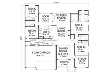 Traditional Floor Plan - Main Floor Plan Plan #513-2068