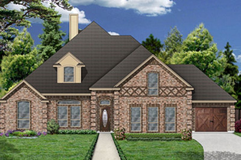 Dream House Plan - European Exterior - Front Elevation Plan #84-470
