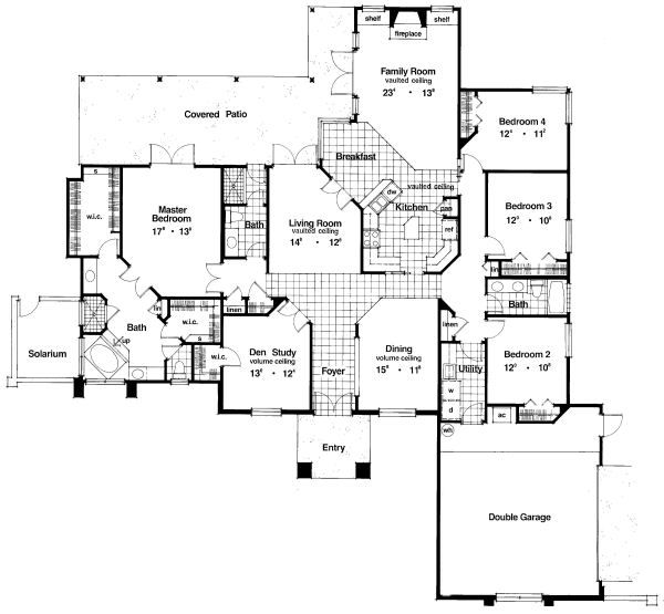 European Floor Plan - Main Floor Plan Plan #417-335