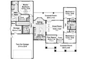 Country Style House Plan - 3 Beds 2 Baths 1637 Sq/Ft Plan #21-459