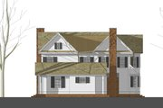 Country Style House Plan - 4 Beds 3.5 Baths 3800 Sq/Ft Plan #481-8 Exterior - Rear Elevation