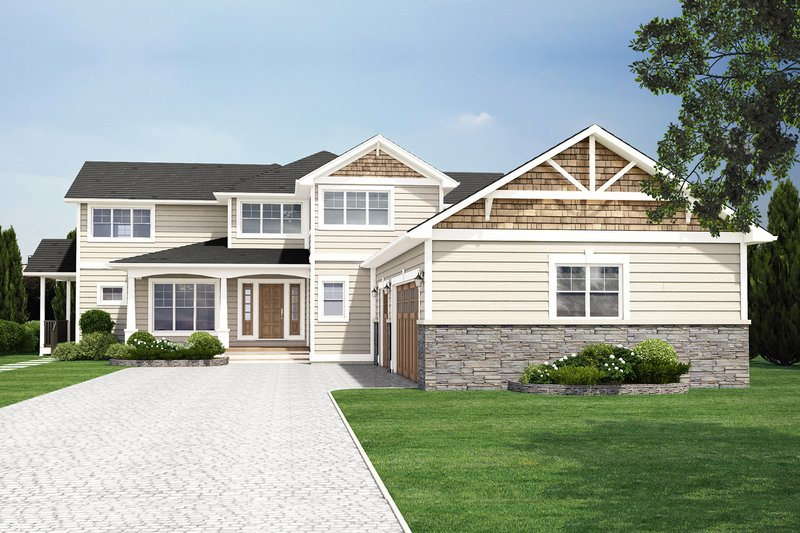 Dream House Plan - Traditional Exterior - Front Elevation Plan #126-156