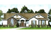 Traditional Style House Plan - 3 Beds 2 Baths 1307 Sq/Ft Plan #58-193 Exterior - Front Elevation