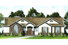 Architectural House Design - Traditional Exterior - Front Elevation Plan #58-193