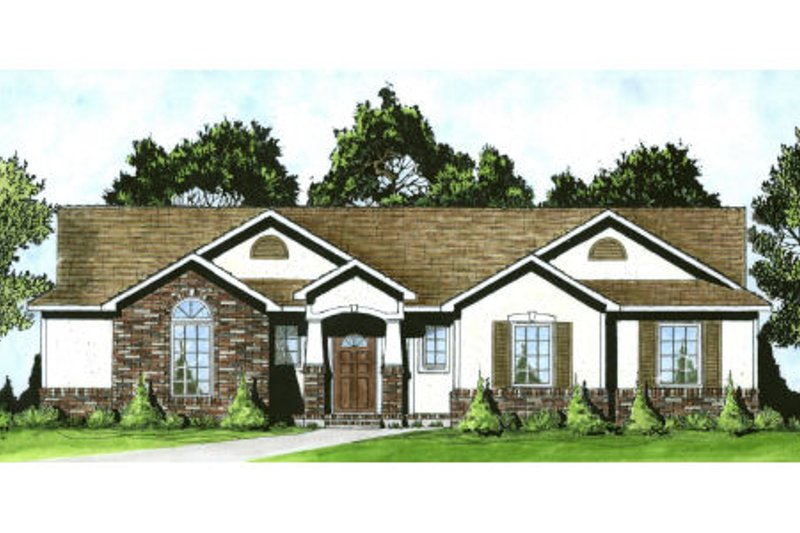 Traditional Exterior - Front Elevation Plan #58-193