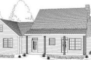 Cottage Style House Plan - 3 Beds 3 Baths 2014 Sq/Ft Plan #406-124 Exterior - Rear Elevation