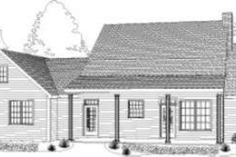 Cottage Exterior - Rear Elevation Plan #406-124 - Houseplans.com