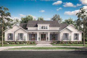 Dream House Plan - Farmhouse Exterior - Front Elevation Plan #430-197