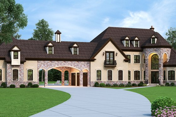 Dream House Plan - European Exterior - Front Elevation Plan #119-432