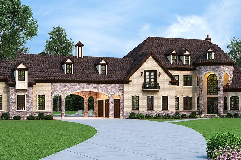 European Style House Plan - 4 Beds 4.5 Baths 3302 Sq/Ft Plan #119-432