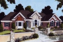 Traditional Exterior - Front Elevation Plan #46-102