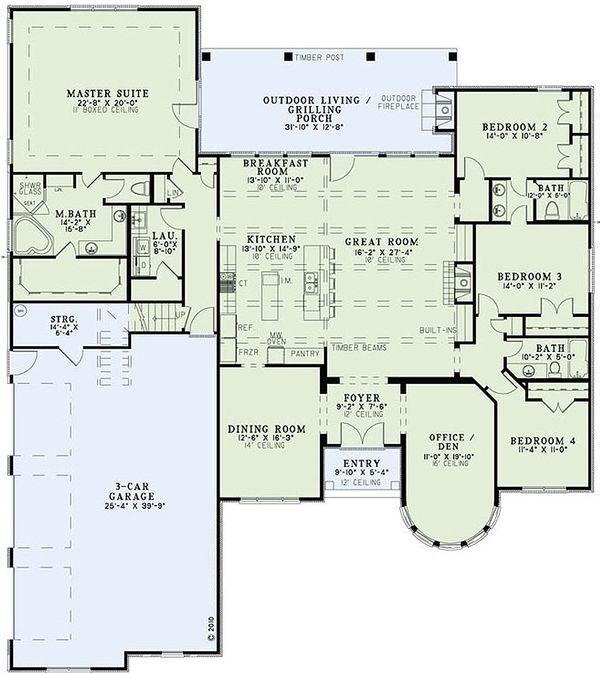 European Floor Plan - Main Floor Plan Plan #17-2440