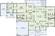 European Style House Plan - 5 Beds 3 Baths 4827 Sq/Ft Plan #17-2272 Floor Plan - Main Floor Plan