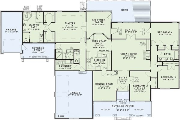 European Floor Plan - Main Floor Plan Plan #17-2272