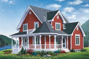 Farmhouse Exterior - Front Elevation Plan #23-2170