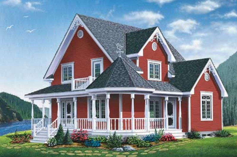 Farmhouse Style House Plan - 3 Beds 1.5 Baths 1798 Sq/Ft Plan #23-2170 Exterior - Front Elevation