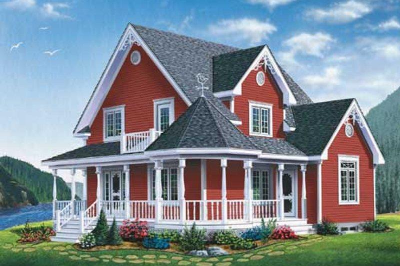 Farmhouse Style House Plan - 3 Beds 1.5 Baths 1798 Sq/Ft Plan #23-2170
