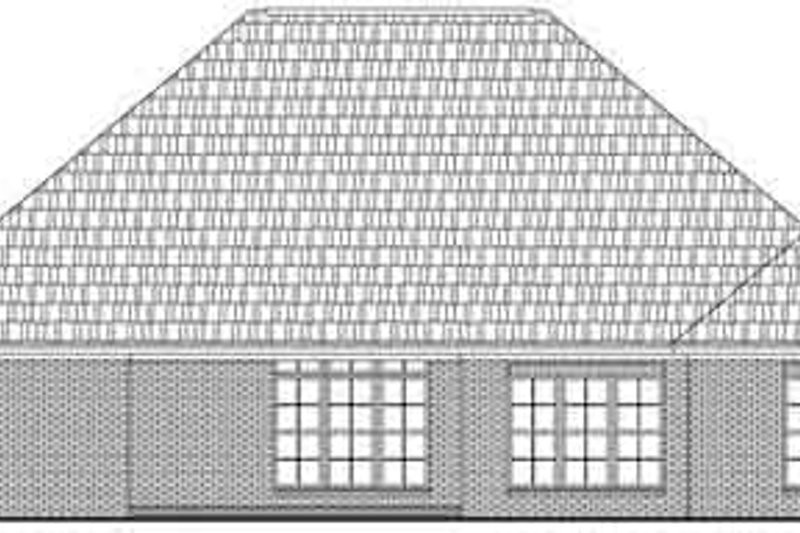 Traditional Exterior - Rear Elevation Plan #21-179 - Houseplans.com