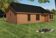 Ranch Exterior - Rear Elevation Plan #1061-27