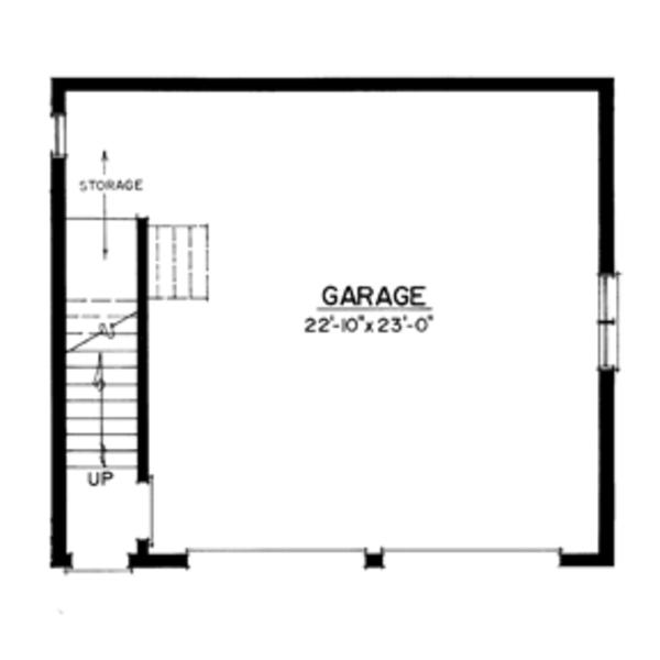 Craftsman Floor Plan - Main Floor Plan Plan #1016-98