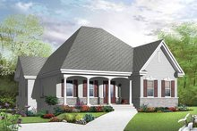 Country Exterior - Front Elevation Plan #23-2500