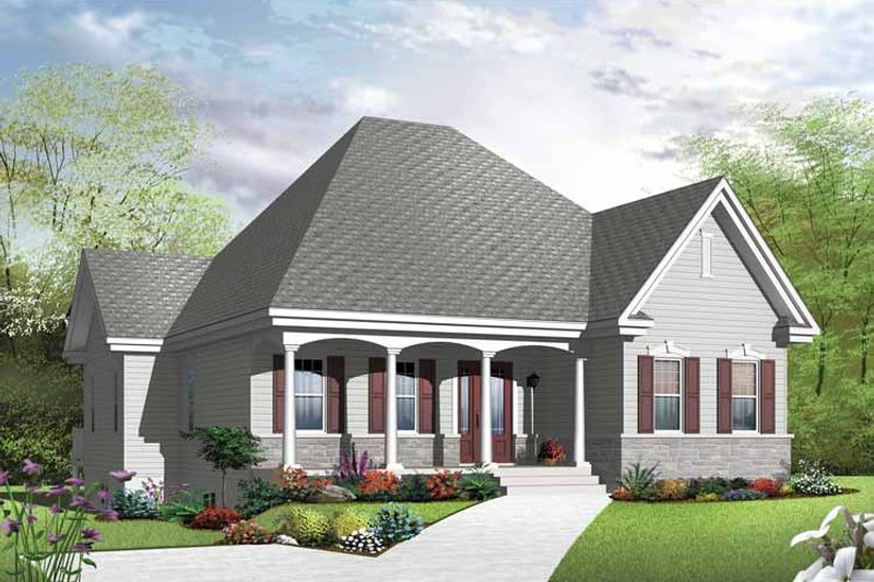 Country Exterior - Front Elevation Plan #23-2500 - Houseplans.com