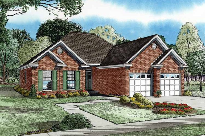 Architectural House Design - Country Exterior - Front Elevation Plan #17-2658