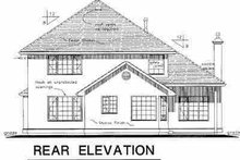 House Blueprint - European Exterior - Rear Elevation Plan #18-236