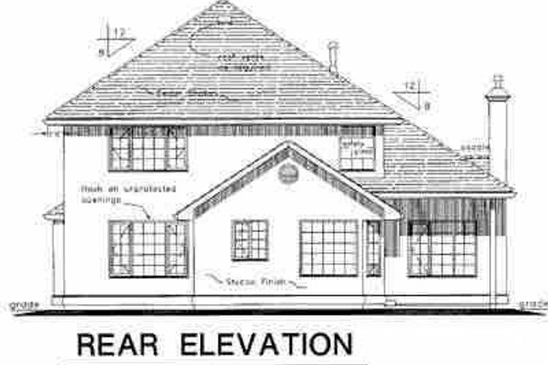 European Exterior - Rear Elevation Plan #18-236 - Houseplans.com