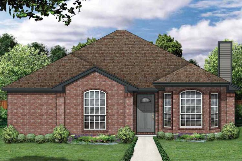 Traditional Exterior - Front Elevation Plan #84-676 - Houseplans.com