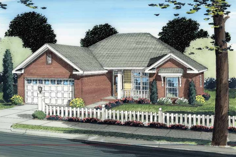 Traditional Exterior - Front Elevation Plan #513-2115 - Houseplans.com