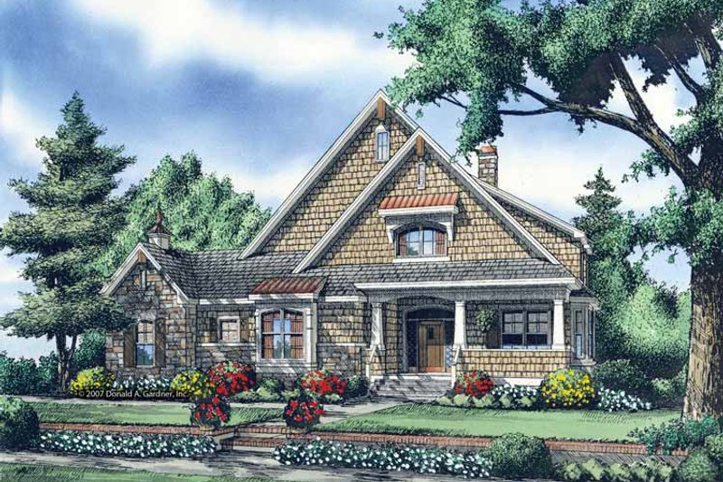 Craftsman Exterior - Front Elevation Plan #929-871