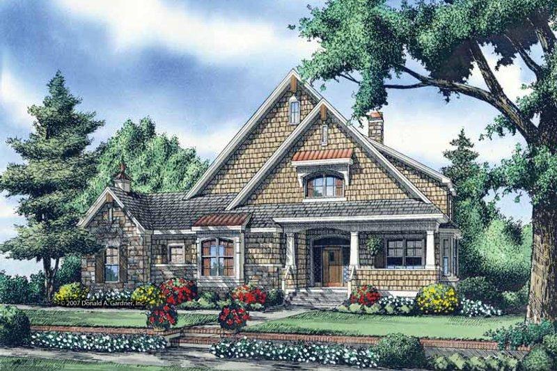 Architectural House Design - Craftsman Exterior - Front Elevation Plan #929-871