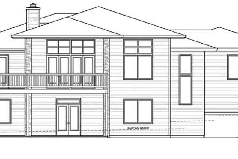 Prairie Exterior - Rear Elevation Plan #509-417 - Houseplans.com