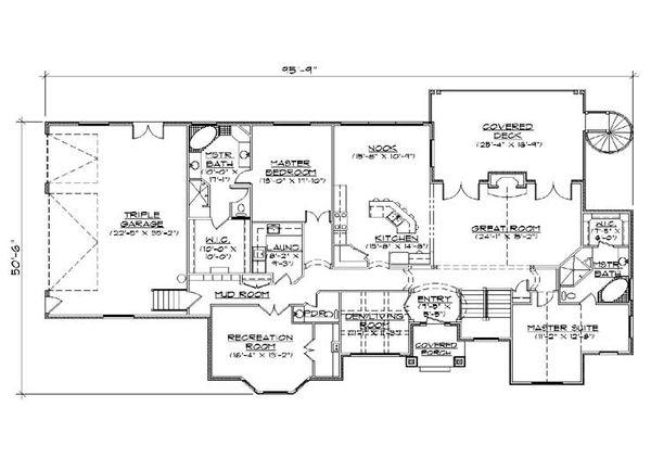 Traditional Floor Plan - Main Floor Plan Plan #5-323