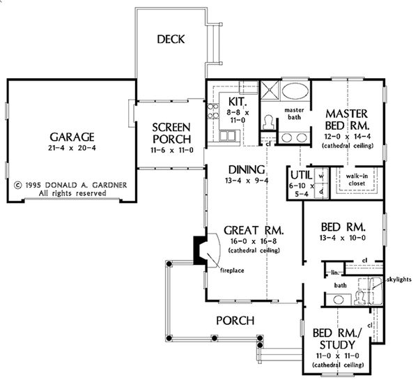 Country Floor Plan - Main Floor Plan #929-54