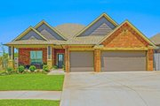 Traditional Style House Plan - 3 Beds 2.5 Baths 1843 Sq/Ft Plan #65-516 Exterior - Front Elevation