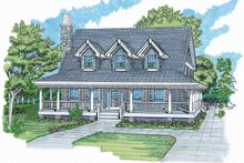 Victorian Exterior - Front Elevation Plan #47-907