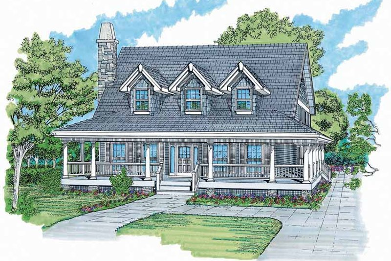 Architectural House Design - Victorian Exterior - Front Elevation Plan #47-907