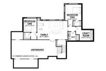 Craftsman Floor Plan - Lower Floor Plan Plan #928-266