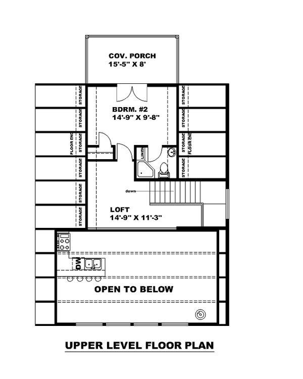 Contemporary Floor Plan - Upper Floor Plan #117-914