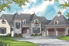 European Exterior - Front Elevation Plan #453-376