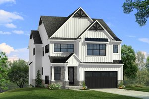 Craftsman Exterior - Front Elevation Plan #1057-19
