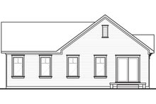 Dream House Plan - Rear View - 1200 square foot cottage home