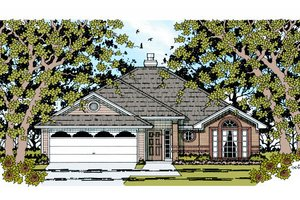 House Plan Design - Traditional Exterior - Front Elevation Plan #42-355